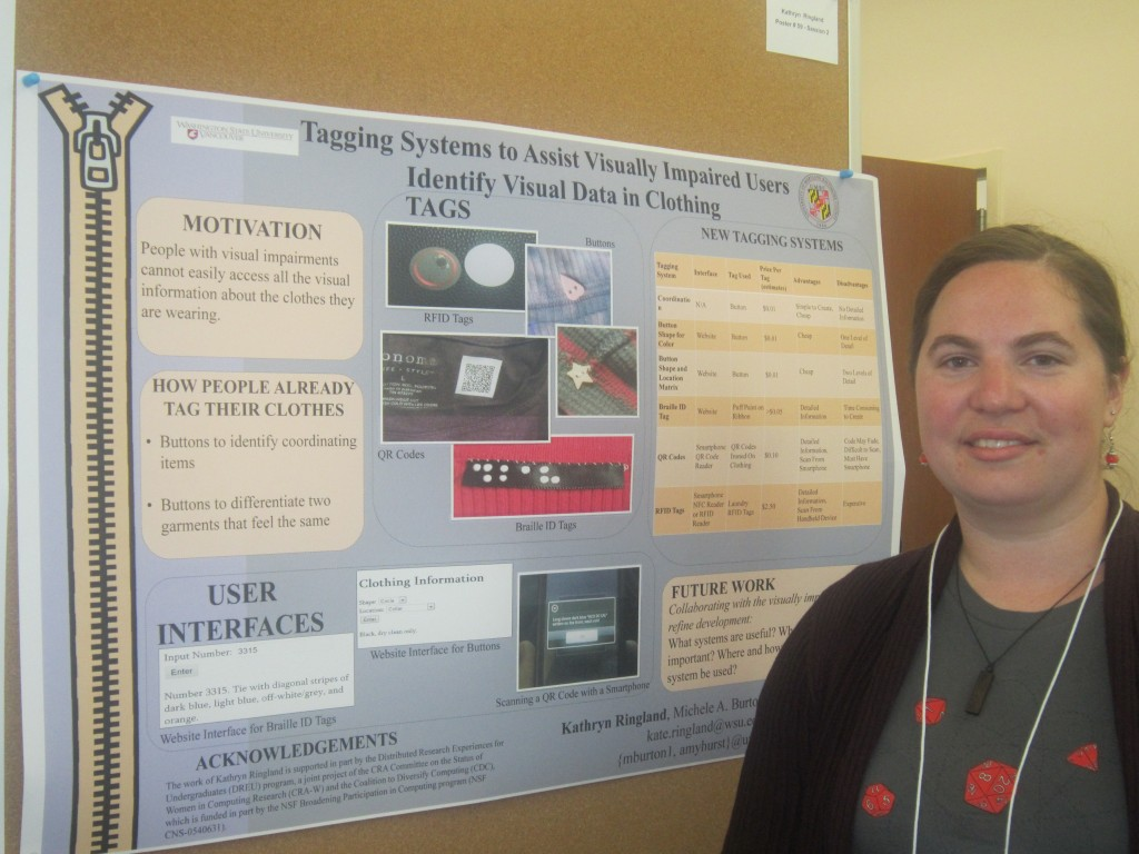 Kate at UMBC SURF Poster Session