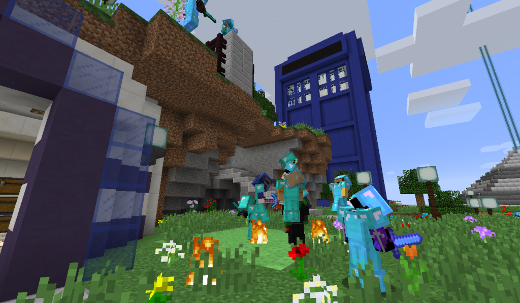 Autcraft community members playing a game together.
